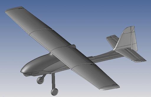 Modelagem 3D Aeromodelo