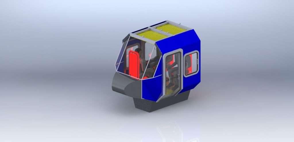 Simulador HUET modelado em solidworks