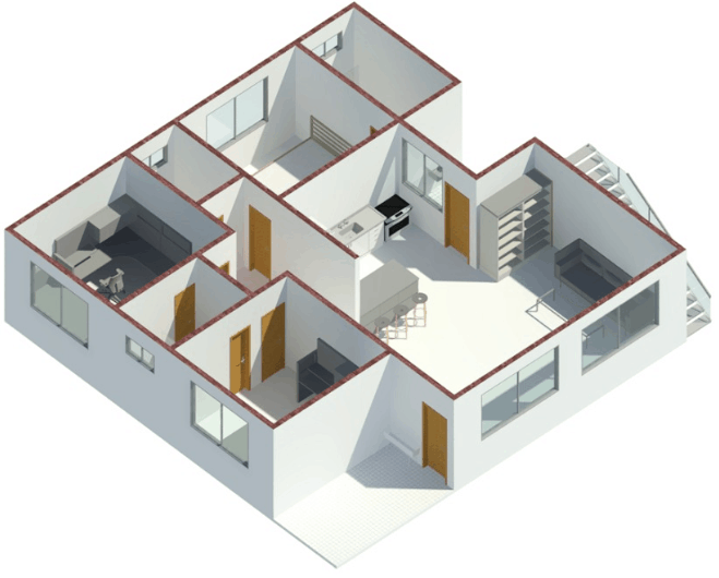 Revit Visualização 3d