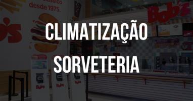 Fundo Com Uma Sorveteria E O Titulo Climatização Sorveteria Em Foco