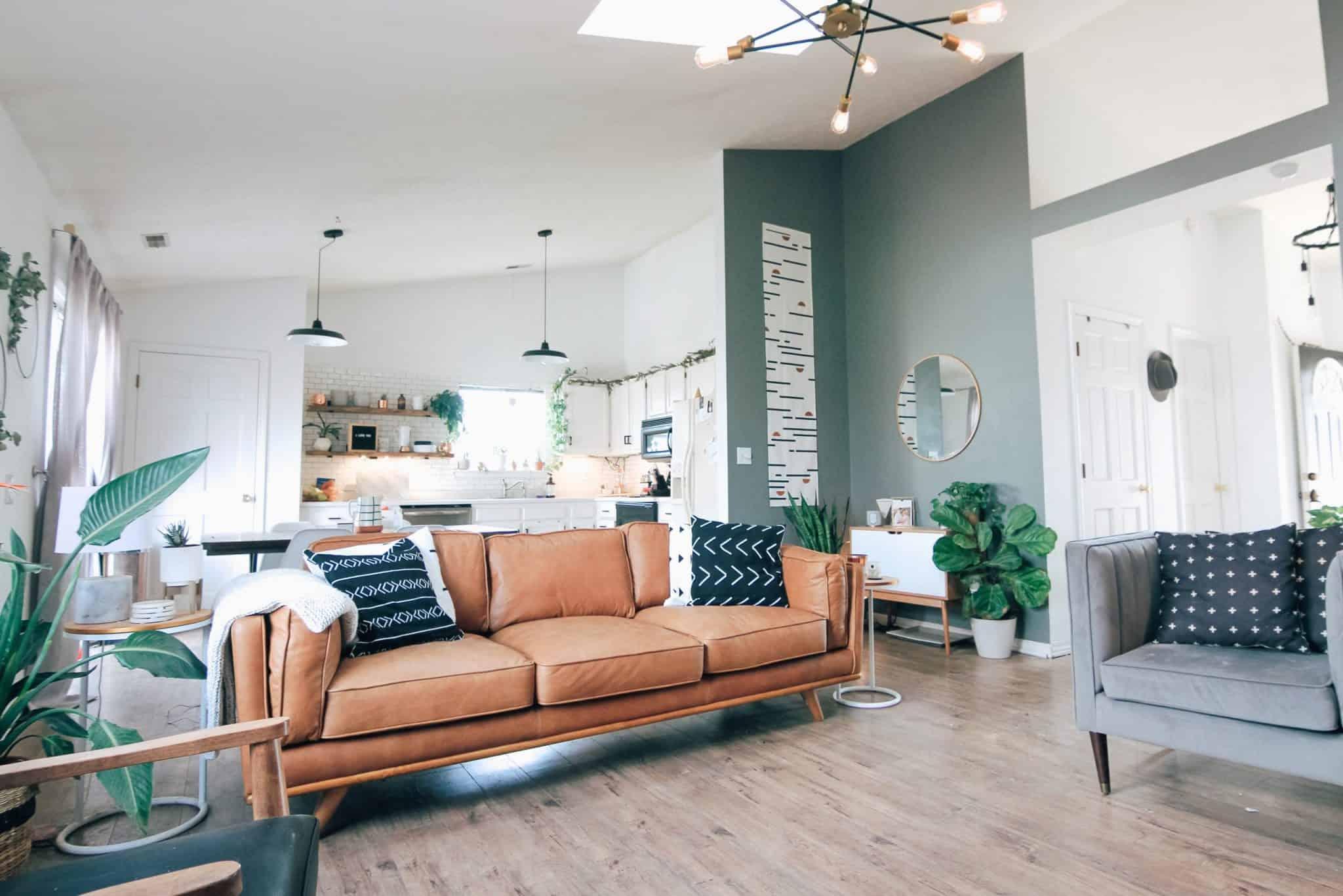 Design De Interiores De Uma Sala De Estar